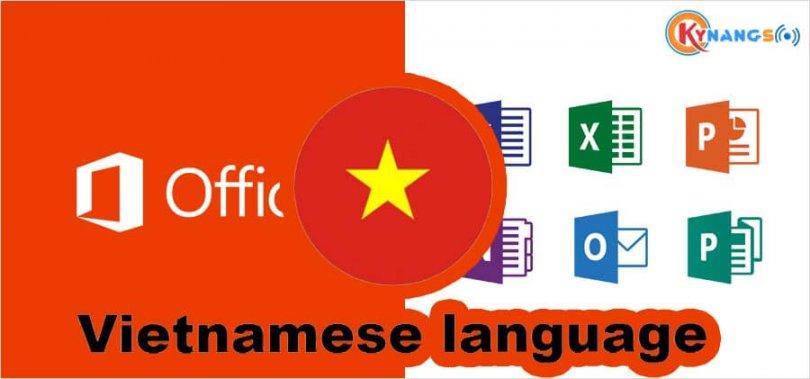 Office tiếng việt, Hướng dẫn cách cài đặt ngôn ngữ tiếng Việt cho Office 2016