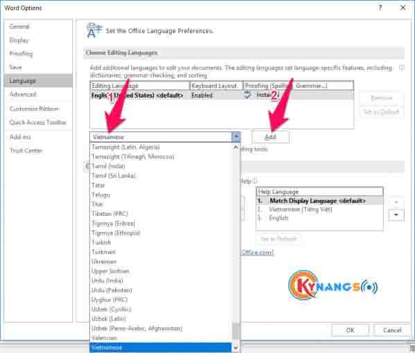Bước 6 Hướng dẫn cài đặt tiếng việt cho Office 2016 - Hướng dẫn cách cài đặt ngôn ngữ tiếng Việt cho Office 2016