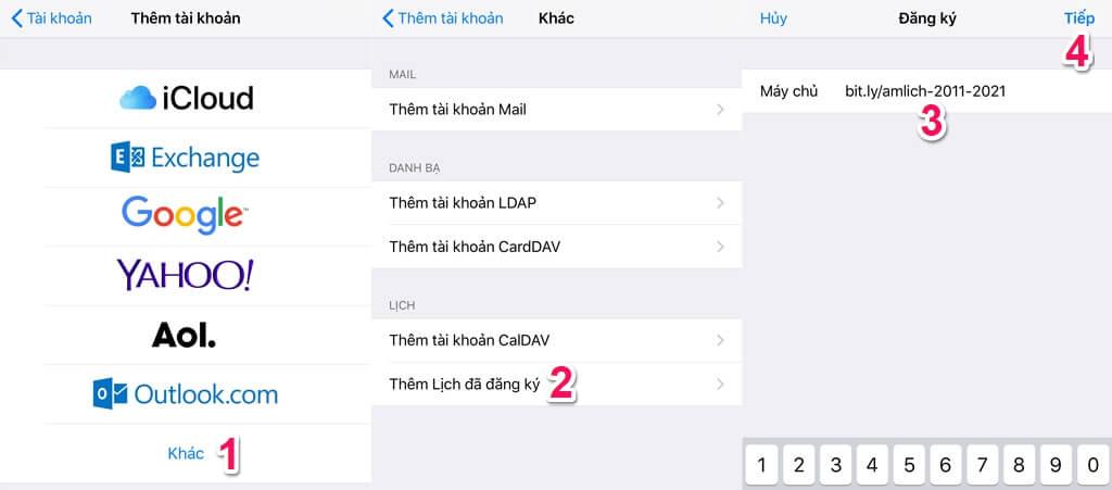Hướng dẫn thêm Lịch Âm VN vào ứng dụng Lịch mặc định trên iOS b2 - Hướng dẫn tích hợp Âm Lịch và ứng dụng Lịch mặc định trên IOS mới nhất