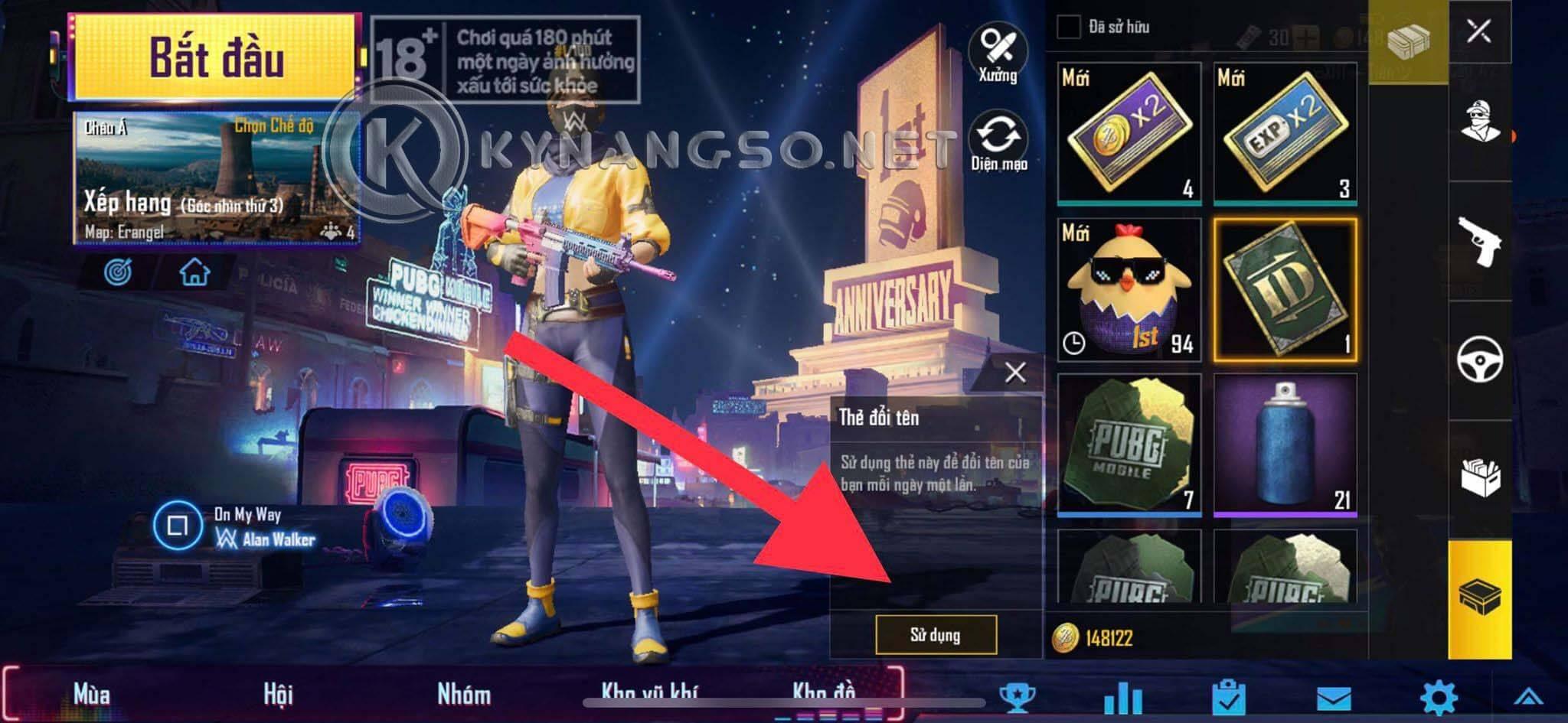 Hướng Dẫn Đổi Tên Ký Đặc Biệt Trong Game PUBG Mobile bằng Điện Thoại 4 - Hướng Dẫn Đổi Tên Ký Đặc Biệt Trong Game PUBG Mobile bằng Điện Thoại