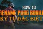 hướng dẫn đổi tên kí tự đặc biệt pubg mobile, Hướng Dẫn Đổi Tên Ký Đặc Biệt Trong Game PUBG Mobile bằng Điện Thoại
