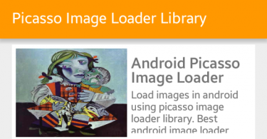 picasso android, Thư viện Picasso – Load ảnh trong Android từ URL