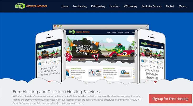t6 hosting mien phi byet host - Tổng hợp 10 Web Hosting miễn phí tốt nhất 2019, không chứa quảng cáo