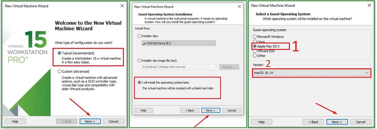 H%C6%B0%E1%BB%9Bng d%E1%BA%ABn c%C3%A0i %C4%91%E1%BA%B7t macOS 10.15 Catalina l%C3%AAn Windows 10 b%E1%BA%B1ng VMware  Workstation create a new virtual machine 2 4 - Hướng dẫn cài đặt macOS 10.15 Catalina lên Windows 10 bằng VMware