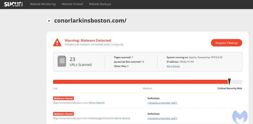 malware rogueads.unwanted_ads, Hướng dẫn xoá mã độc (Malware) trong website WordPress