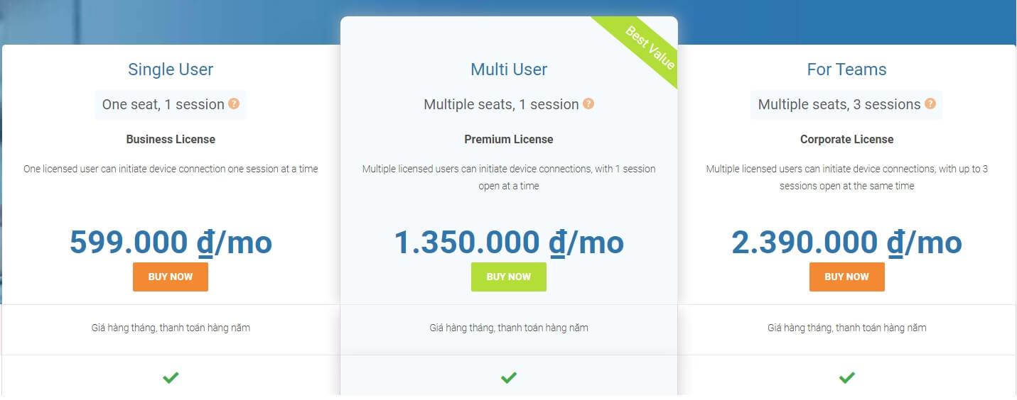 Hướng dẫn xóa giới hạn dùng thử sau 5 phút trên Teamviewer price - Hướng dẫn xóa giới hạn dùng thử sau 5 phút trên Teamviewer