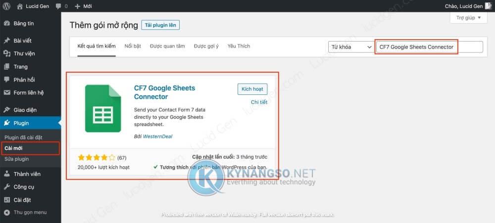Huong dan ket noi Contact Form 7 voi Google Sheet trong Wordpress STEP1 - Hướng dẫn kết nối Contact Form 7  với Google Sheet trong Wordpress