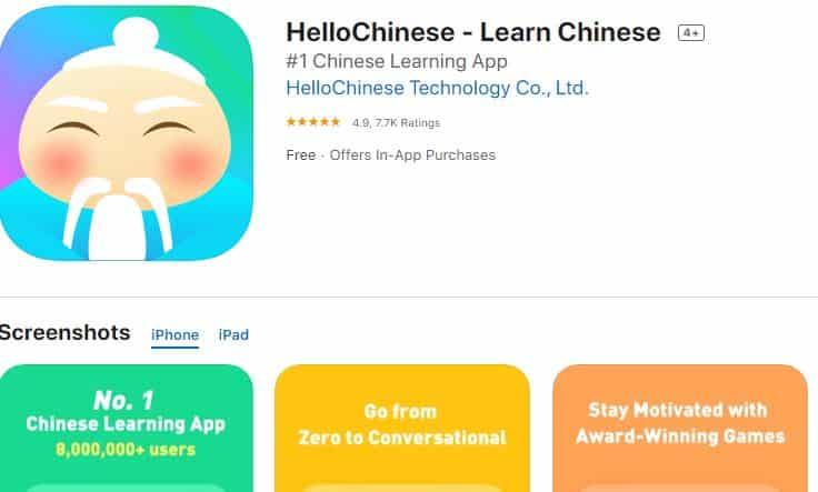 Hello Chinese - Top 5 ứng dụng học tiếng Trung miễn phí cho người mới bắt đầu